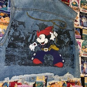 Mickey Mouse x Jerry Leigh Denim Vest